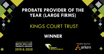 2019 & 2020 Probate Provider of the Year Winner