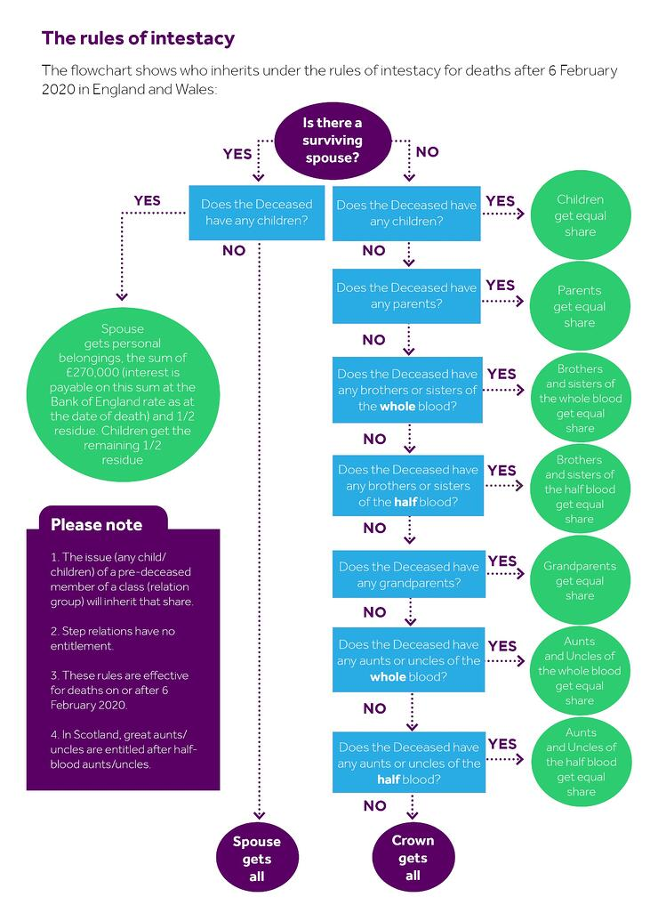 Rules of intestacy infographic