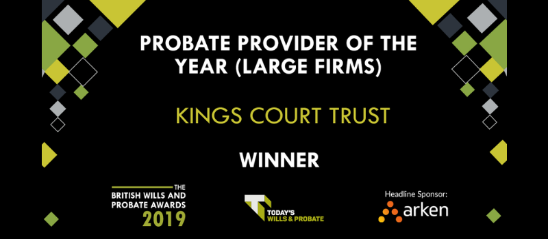 Kings Court Trust named probate provider of the year