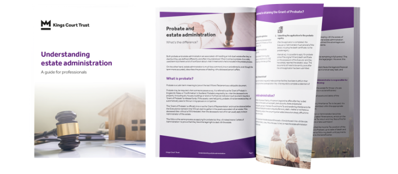 Understanding estate administration - guide for professionals